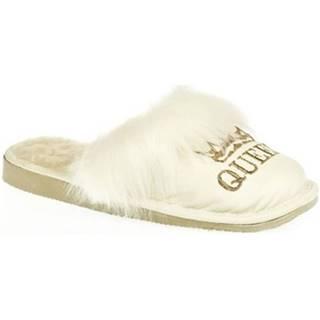 Papuče John-C  Dámske biele papuče QUEEN