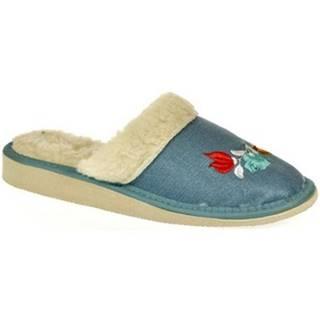 Papuče John-C  Dámske modré papuče ALESYA