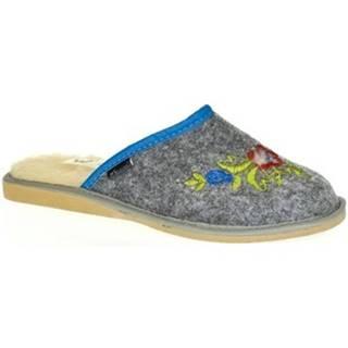 Papuče Just Mazzoni  Dámske sivé papuče LAURA
