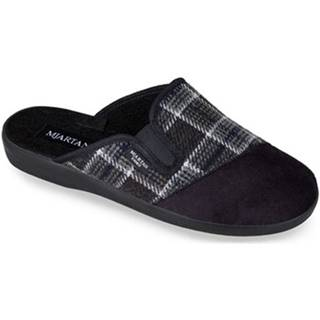 Papuče Mjartan  Pánske čierne papuče  PALO