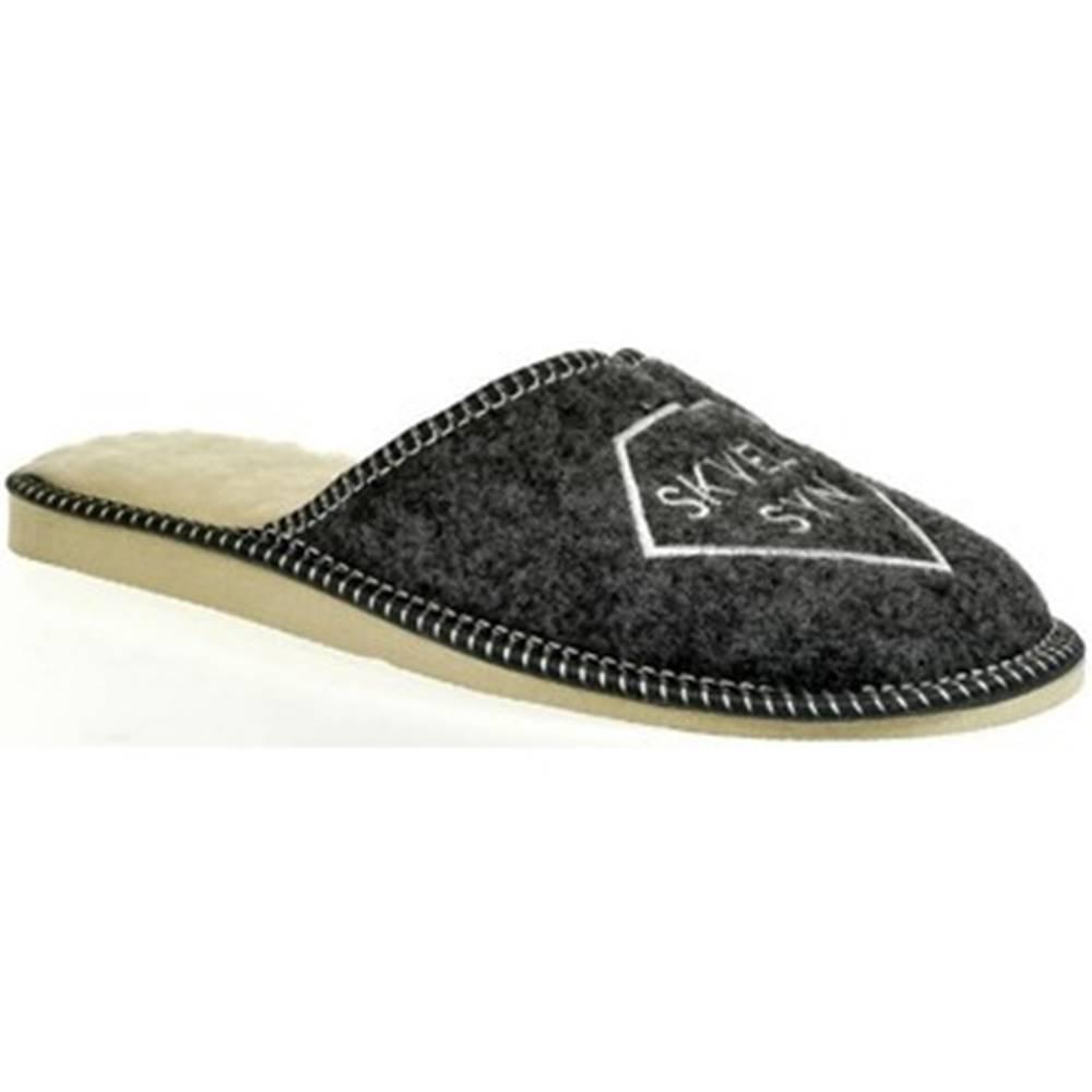 Bins Papuče Bins  Pánske sivé papuče SKVELÝ SYN 36-39