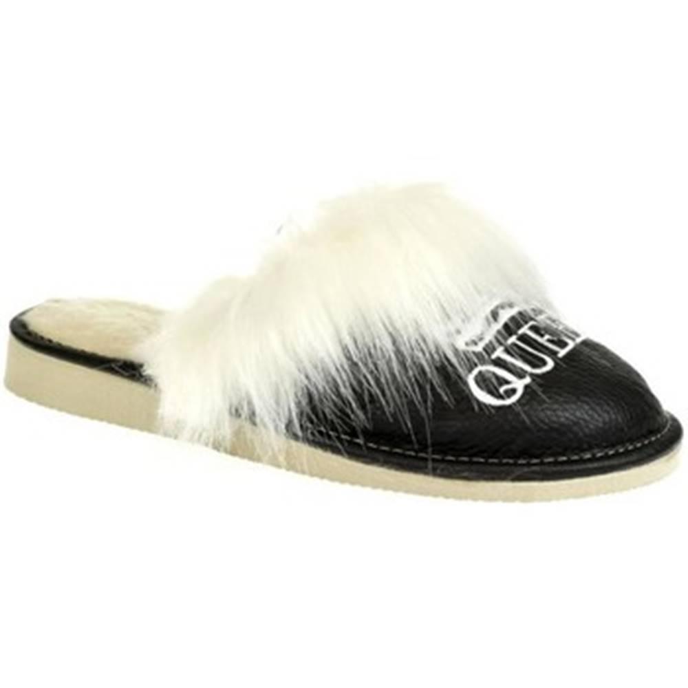 John-C Papuče John-C  Dámske čierne papuče QUEEN