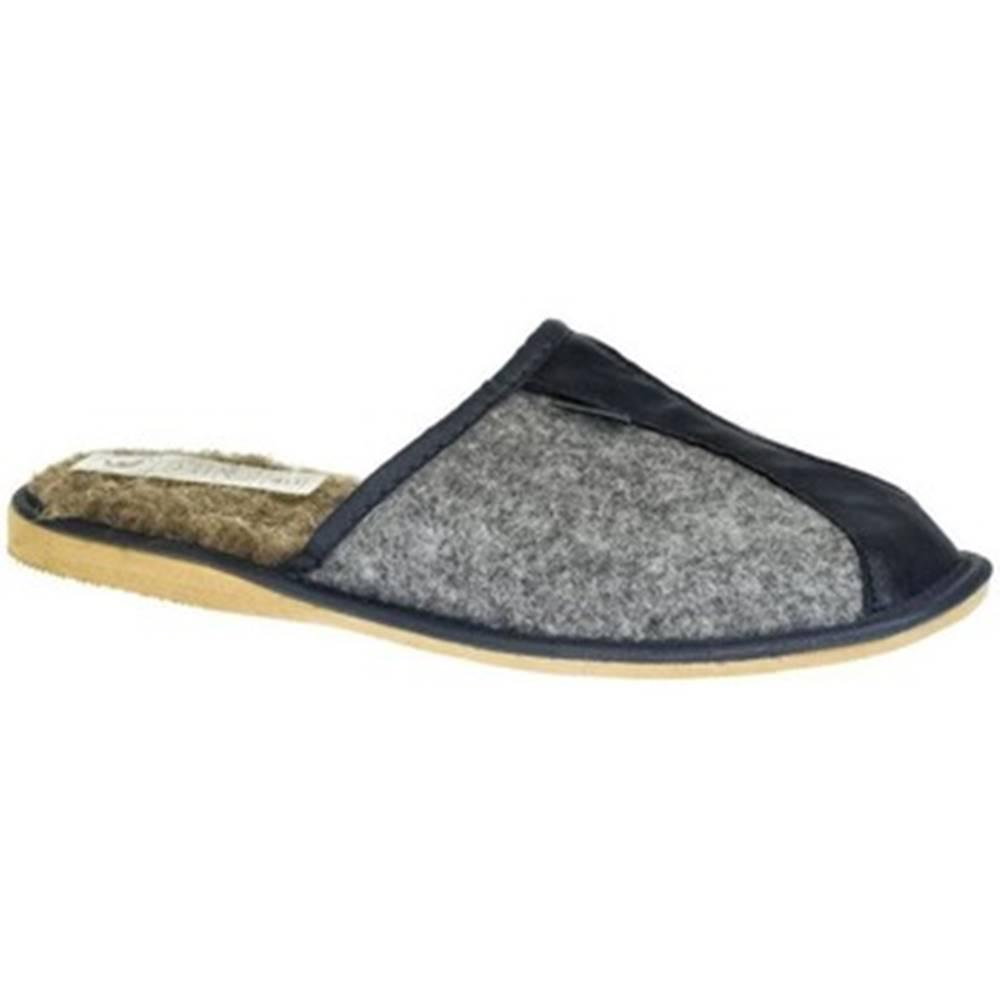 Just Mazzoni Papuče Just Mazzoni  Pánske sivo-modré papuče SIMON