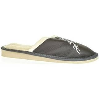 Papuče John-C  Dámske sivé papuče JELENÍK