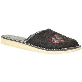 Papuče John-C  Dámske sivé papuče SUPER MAMA