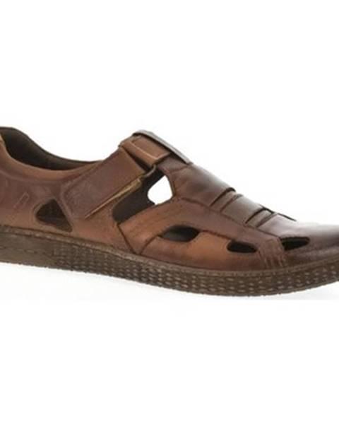 Hnedé sandále Krezus