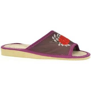 Papuče John-C  Dámske fialové papuče ROSA