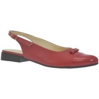 Sandále John-C  Dámske červené sandále EVELINE