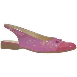 Sandále John-C  Dámske tmavo-ružové sandále EVELINE