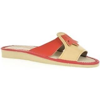 Šľapky John-C  Dámske oranžové papuče TRIN