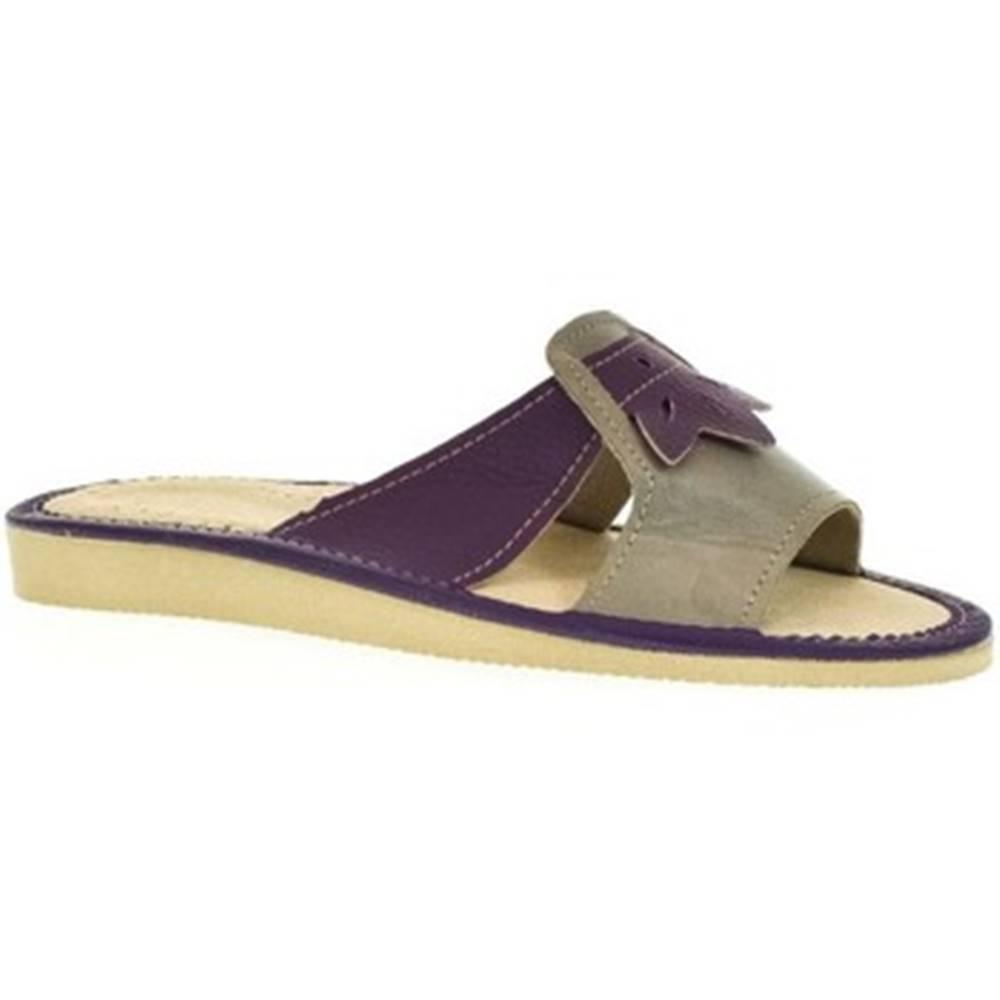 John-C Papuče John-C  Dámske fialové papuče ULA
