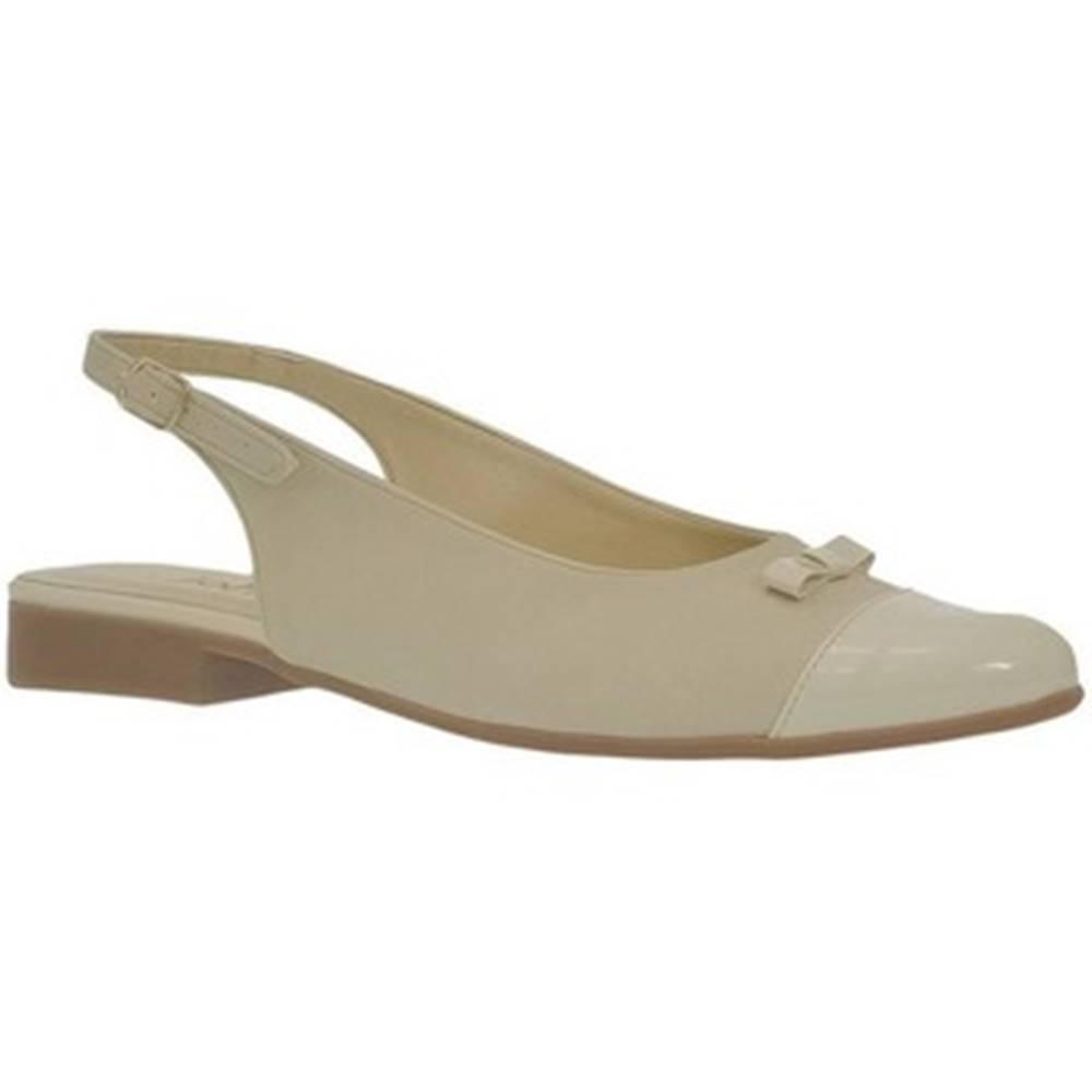 John-C Sandále John-C  Dámske krémové sandále EVELINE