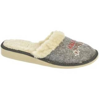 Papuče John-C  Dámske sivé papuče TATRY
