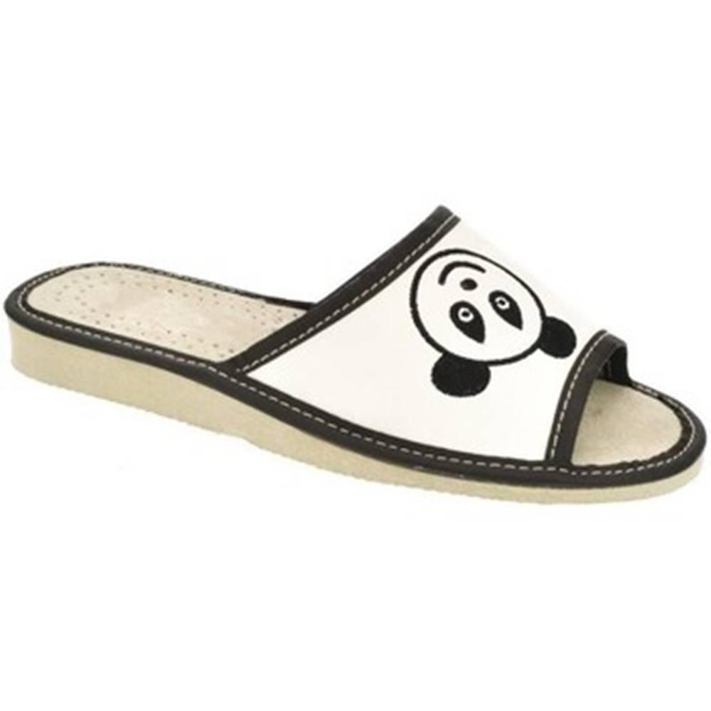 John-C Papuče John-C  Dámske biele papuče KOALA