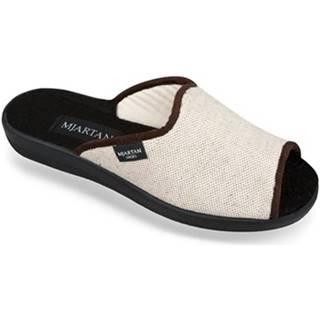 Papuče Mjartan  Dámske béžové papuče  ADELA