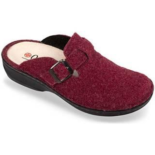 Papuče Mjartan  Dámske bordové papuče  DORI