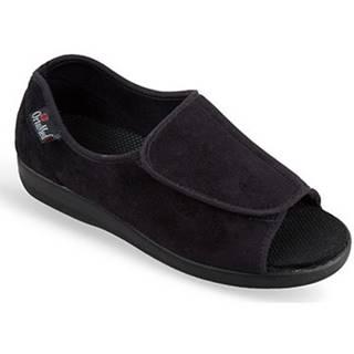 Papuče Mjartan  Dámske čierne papuče  MILOTA