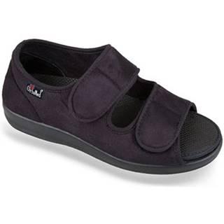 Papuče Mjartan  Dámske čierne papuče  ORTENZIA