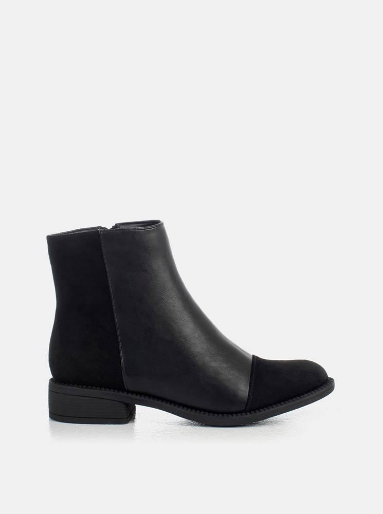 musk Čierne dámske členkové topánky MUSK