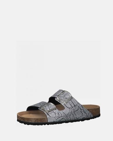 Strieborné papuče Tamaris