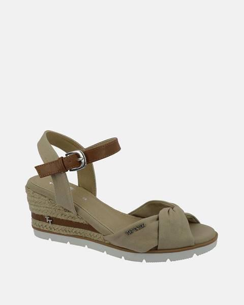 Béžové topánky Tom Tailor