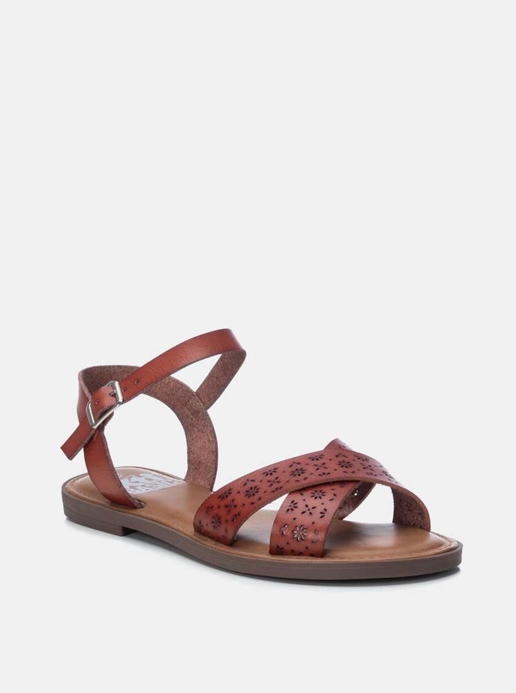 Xti Hnedé dámske vzorované sandále Xti
