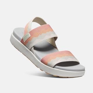 Oranžovo-krémové dámske sandále Keen