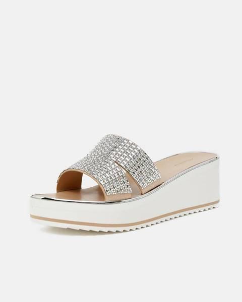 Strieborné papuče Aldo