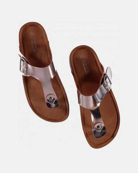 Strieborné papuče hailys