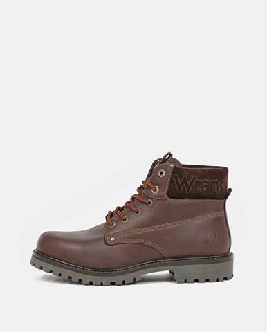 Hnedá zimná obuv Wrangler