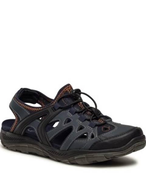 Tmavomodré sandále Lanetti