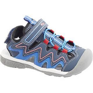 Modré sandále na suchý zips Fila