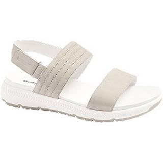 Svetlosivé kožené komfortné sandále Romika