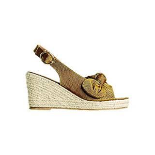 Zlatohnedé sandále na klinovom podpätku Vero Moda