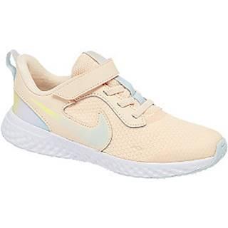 Oranžové tenisky na suchý zips Nike Revolution 5