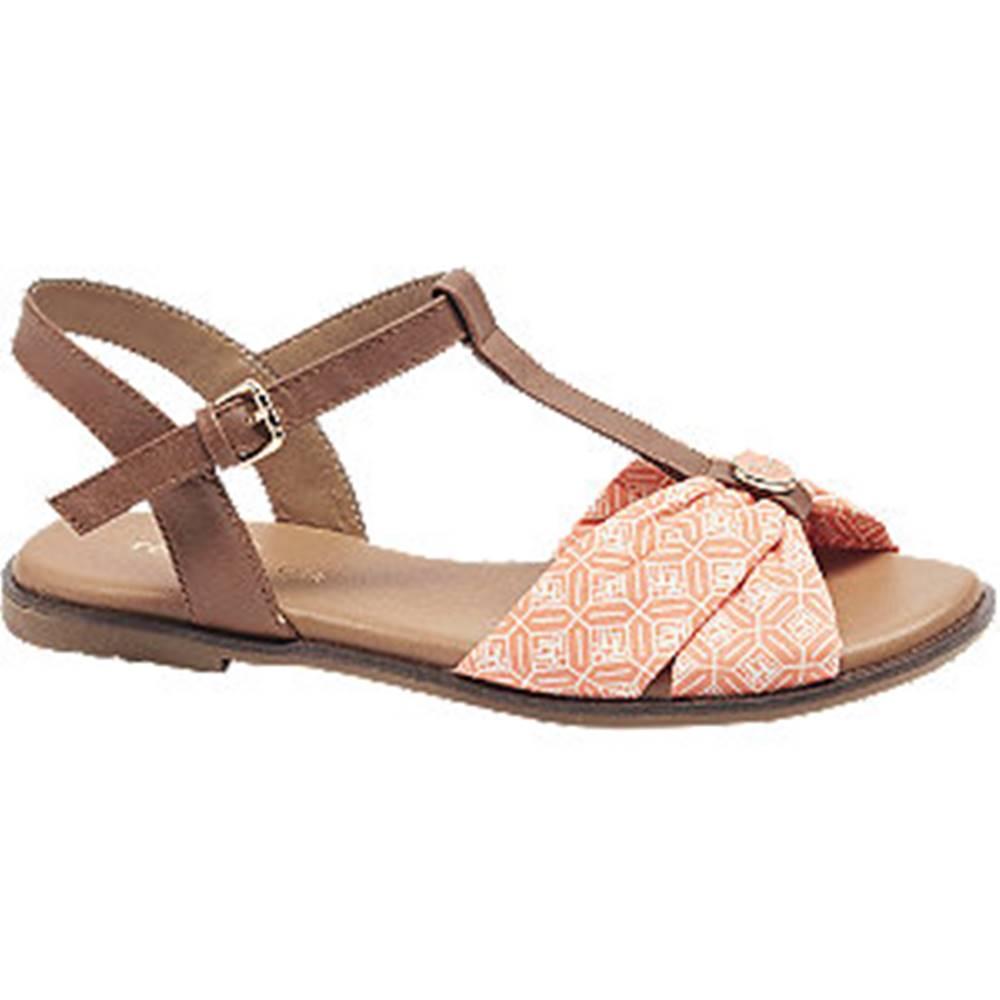 Tom Tailor Oranžovoružové sandále Tom Tailor