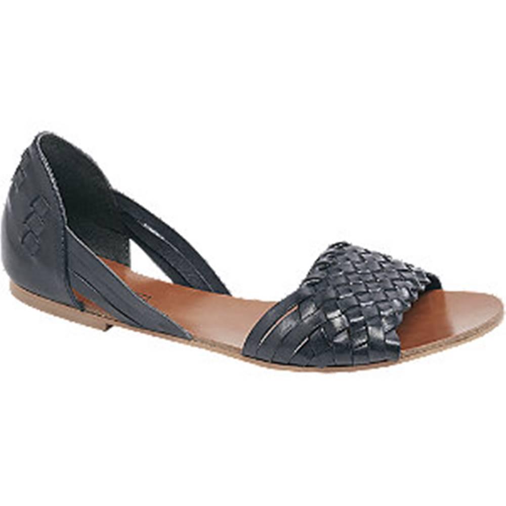 5th Avenue Tmavomodré kožené sandále 5th Avenue