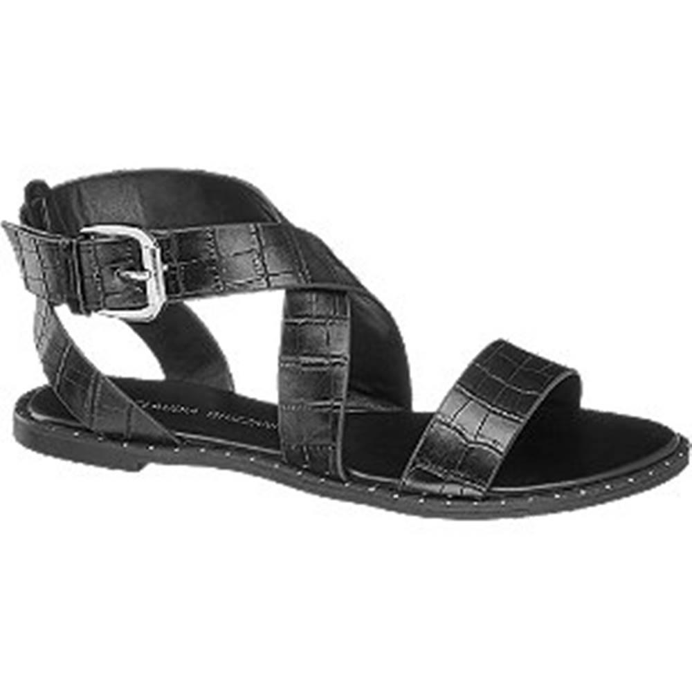 Claudia Ghizzani Čierne sandále Claudia Ghizzani