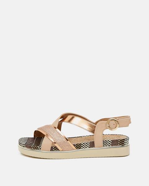 Zlatoružové sandále Wrangler