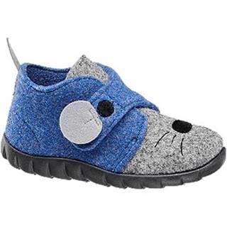 Modro-sivé papuče