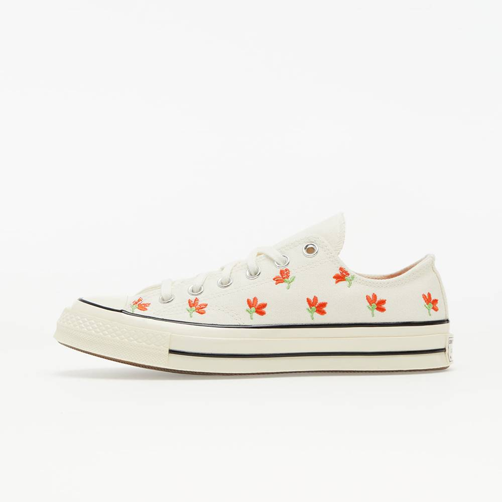 Converse Chuck 70 Egret/ Bright Poppy/ Black