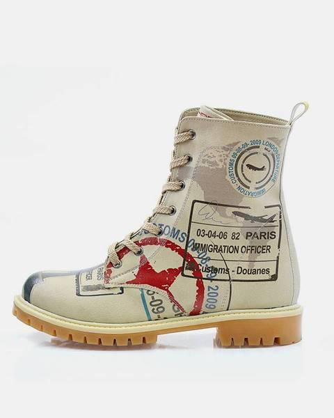 Béžové topánky goby