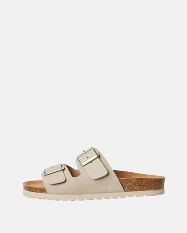 Béžové papuče Vero Moda