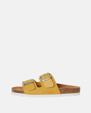 Žlté papuče Vero Moda