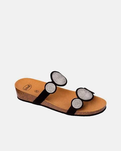 Čierne papuče Scholl