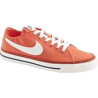 Oranžové plátenné tenisky Nike Court Legacy