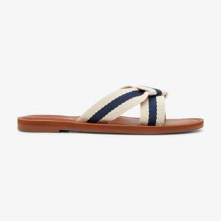 Papuče, žabky pre ženy  - biela, hnedá