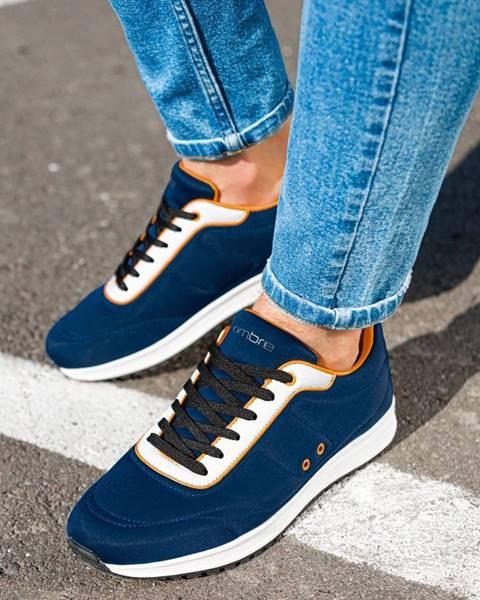 Tmavomodré topánky Ombre Clothing