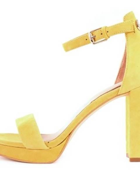 Žlté sandále Guess