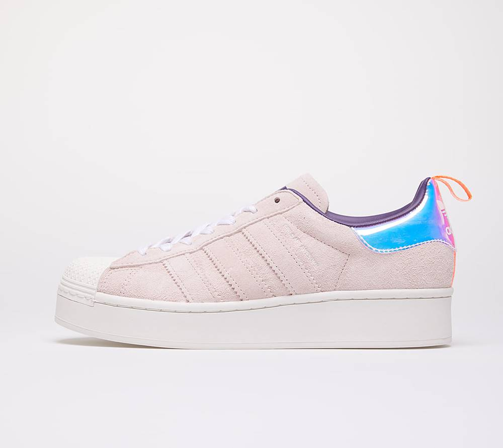 adidas Originals adidas Superstar Plateau W Ftwr White/ Signal Coral/ Icey Pink F17